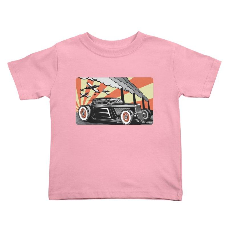 RED DAWN Kids Toddler T-Shirt by Max Grundy Design's Artist Shop