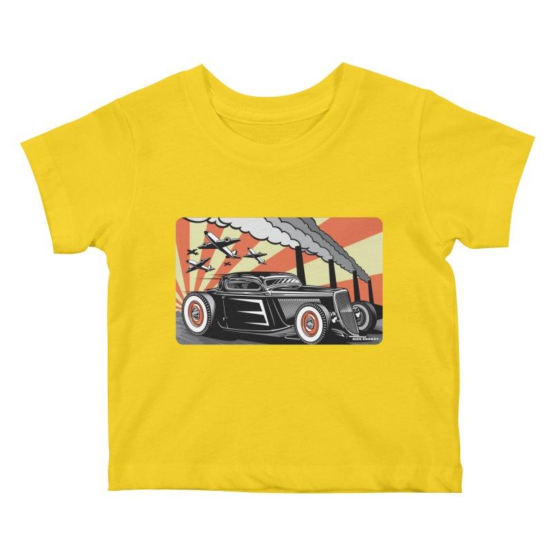 RED DAWN Kids Baby T-Shirt by Max Grundy Design's Artist Shop