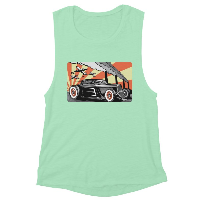 RED DAWN Women's Muscle Tank by Max Grundy Design's Artist Shop