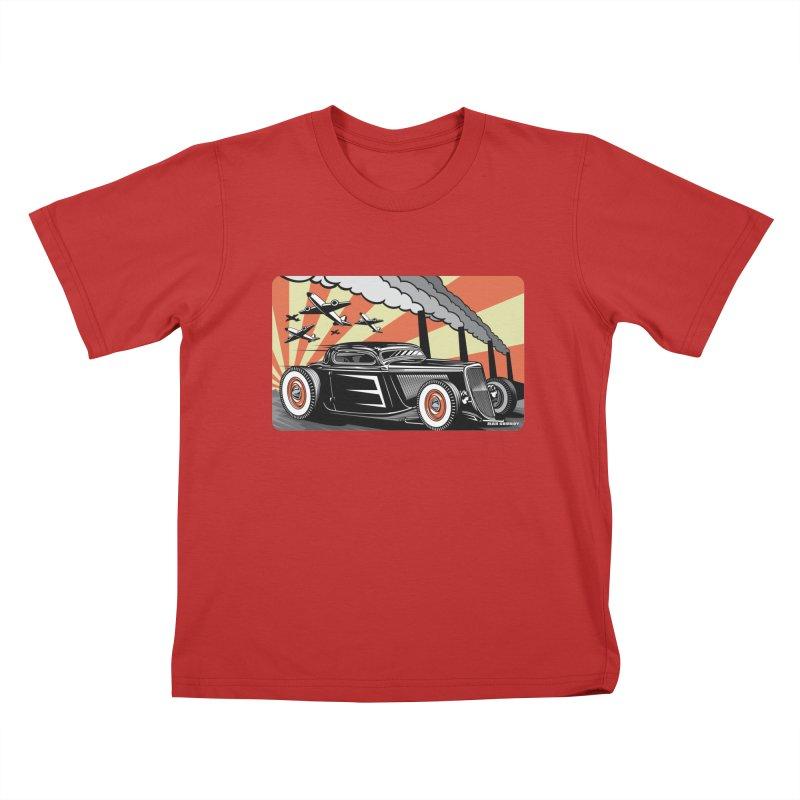 RED DAWN Kids T-Shirt by Max Grundy Design's Artist Shop