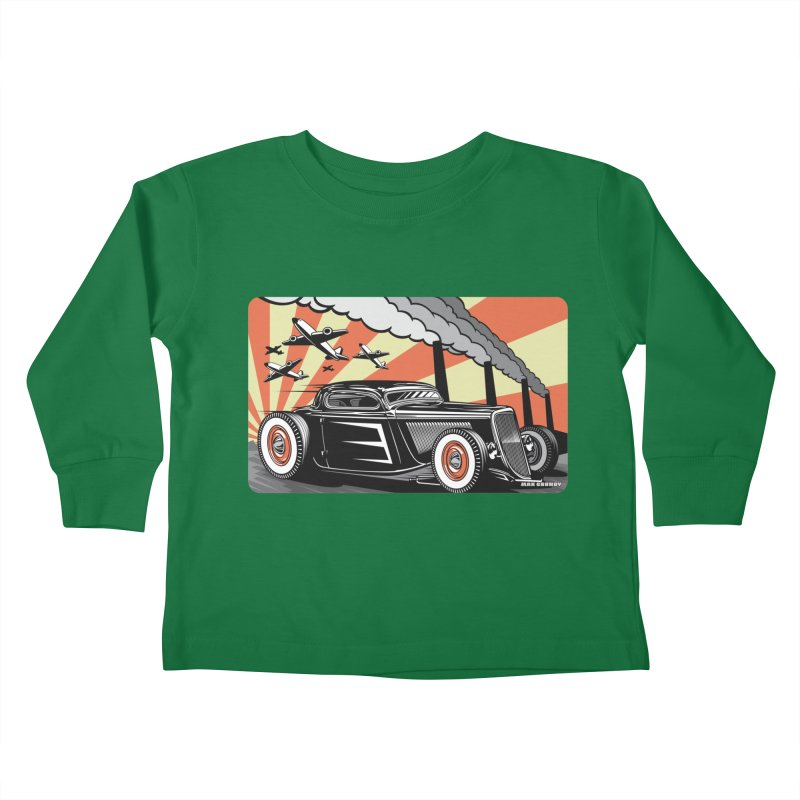 RED DAWN Kids Toddler Longsleeve T-Shirt by Max Grundy Design's Artist Shop