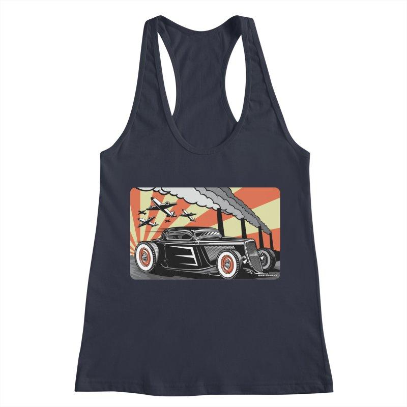 RED DAWN Women's Racerback Tank by Max Grundy Design's Artist Shop