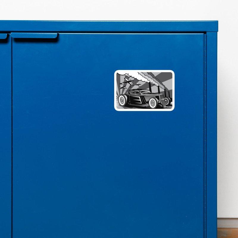 RED DAWN (black & white) Accessories Magnet by Max Grundy Design's Artist Shop