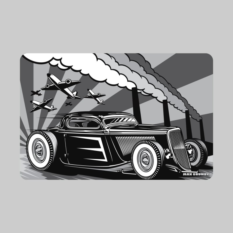 RED DAWN (black & white) Accessories Magnet by Max Grundy Design's Artist Shop