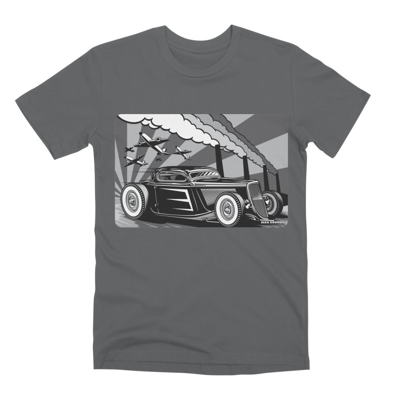 RED DAWN (black & white) Men's Premium T-Shirt by Max Grundy Design's Artist Shop