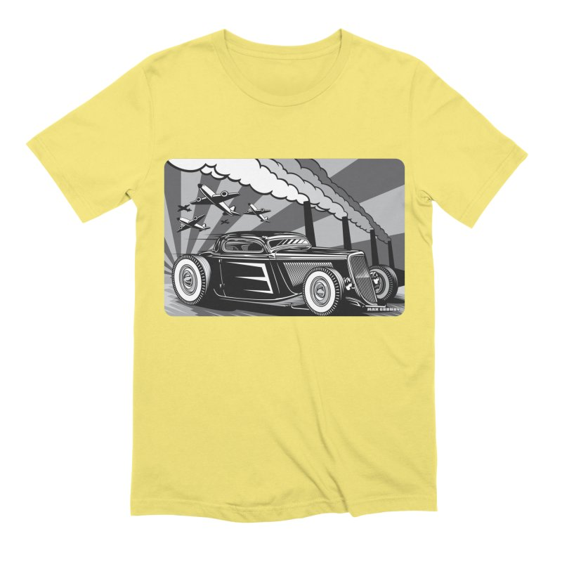 RED DAWN (black & white) Men's Extra Soft T-Shirt by Max Grundy Design's Artist Shop