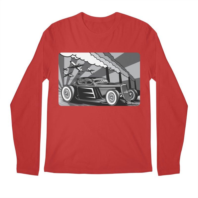 RED DAWN (black & white) Men's Regular Longsleeve T-Shirt by Max Grundy Design's Artist Shop
