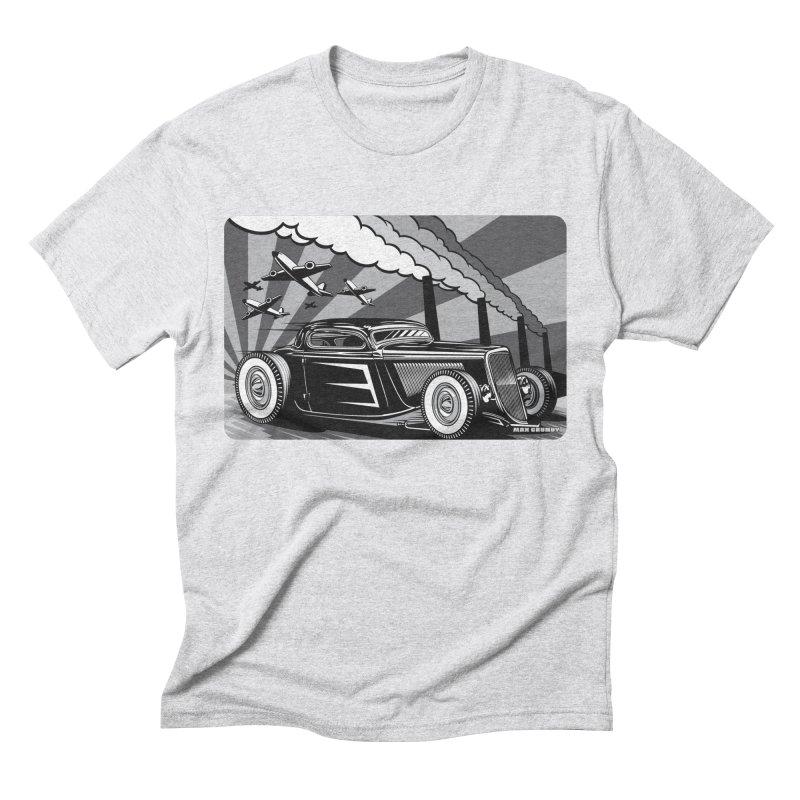 RED DAWN (black & white) Men's Triblend T-Shirt by Max Grundy Design's Artist Shop