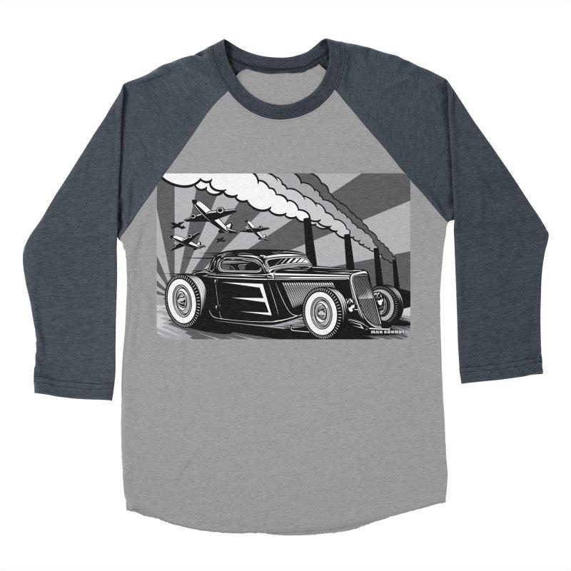 RED DAWN (black & white) Women's Baseball Triblend Longsleeve T-Shirt by Max Grundy Design's Artist Shop