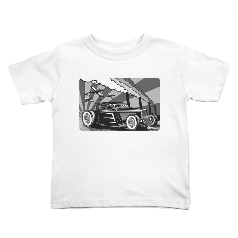 RED DAWN (black & white) Kids Toddler T-Shirt by Max Grundy Design's Artist Shop