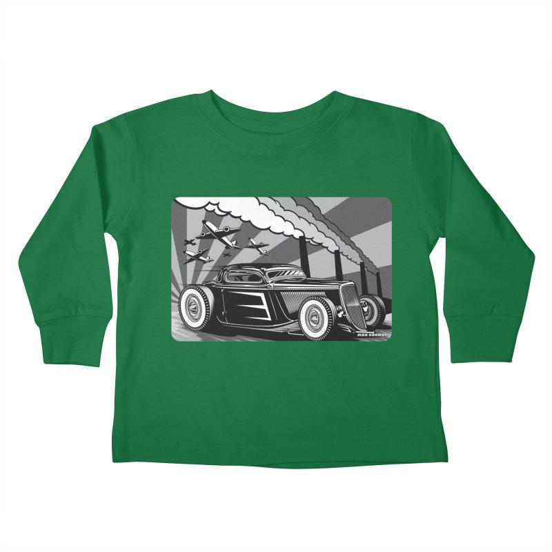 RED DAWN (black & white) Kids Toddler Longsleeve T-Shirt by Max Grundy Design's Artist Shop