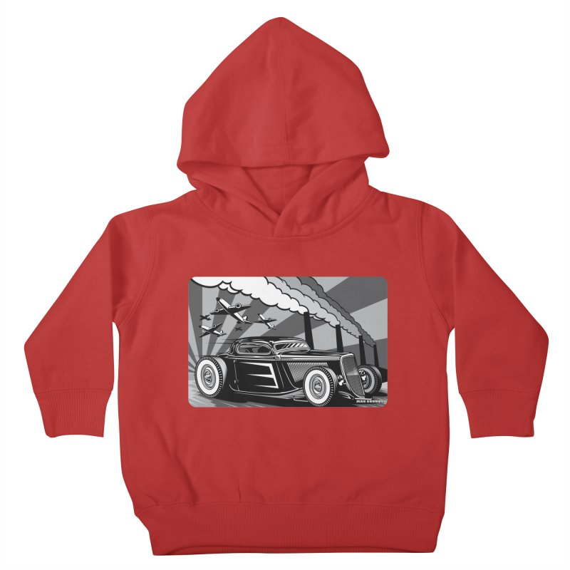 RED DAWN (black & white) Kids Toddler Pullover Hoody by Max Grundy Design's Artist Shop