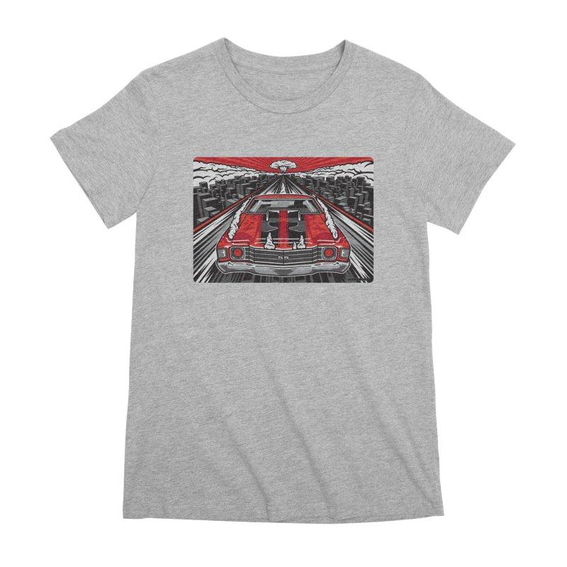 RED THREAT Women's Premium T-Shirt by Max Grundy Design's Artist Shop
