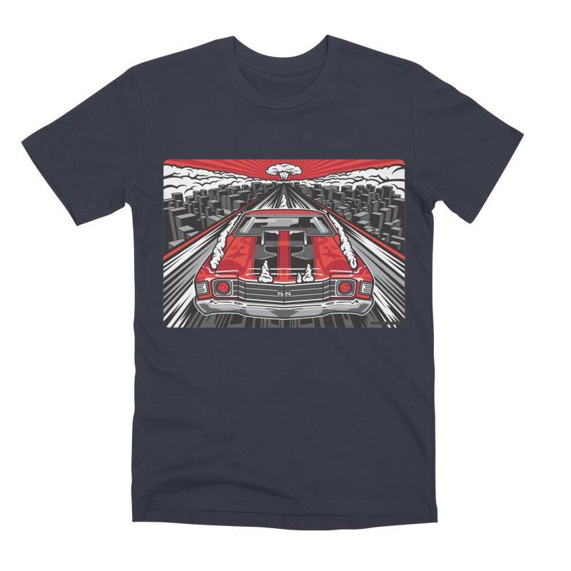 RED THREAT Men's Premium T-Shirt by Max Grundy Design's Artist Shop
