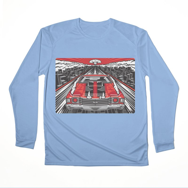 RED THREAT Women's Performance Unisex Longsleeve T-Shirt by Max Grundy Design's Artist Shop