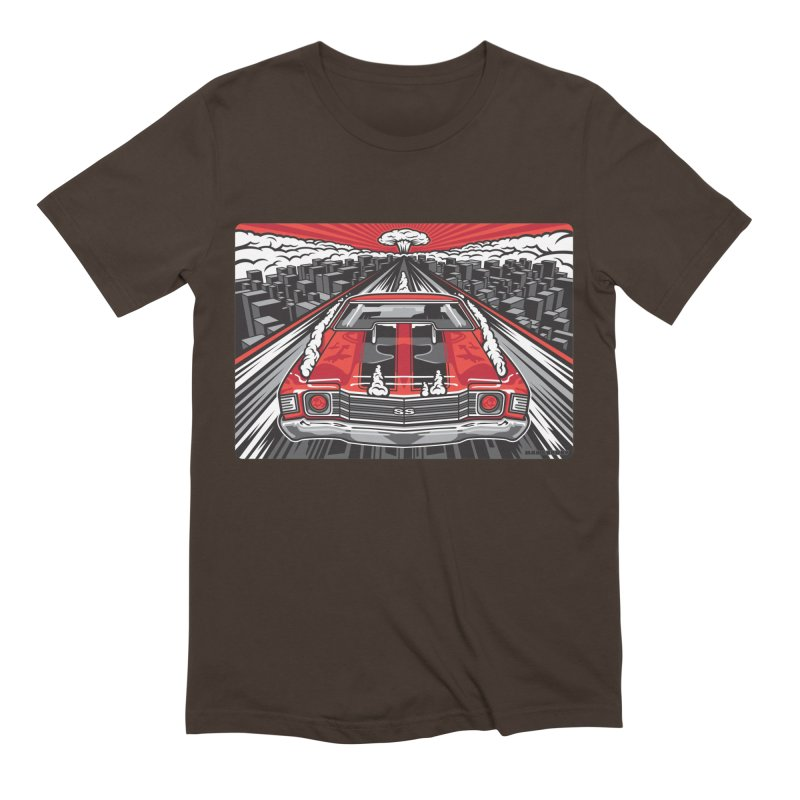 RED THREAT Men's Extra Soft T-Shirt by Max Grundy Design's Artist Shop