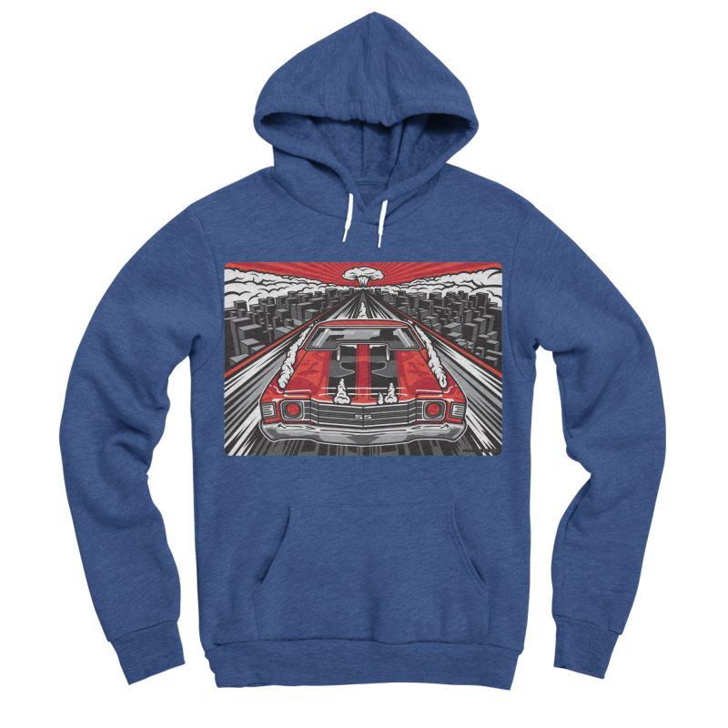 RED THREAT Men's Sponge Fleece Pullover Hoody by Max Grundy Design's Artist Shop