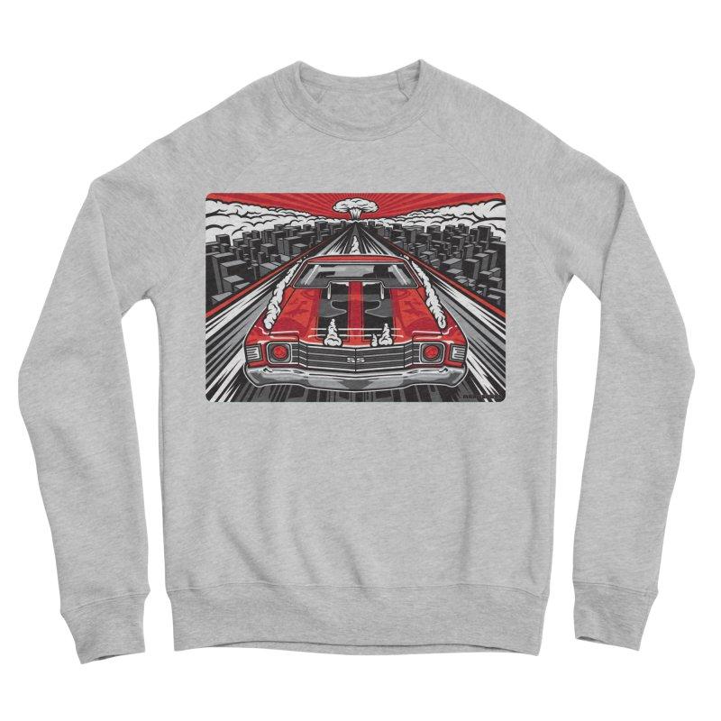 RED THREAT Men's Sponge Fleece Sweatshirt by Max Grundy Design's Artist Shop