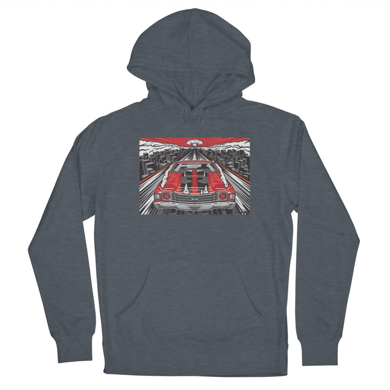 RED THREAT Men's French Terry Pullover Hoody by Max Grundy Design's Artist Shop