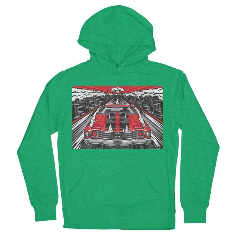 RED THREAT Women's French Terry Pullover Hoody by Max Grundy Design's Artist Shop