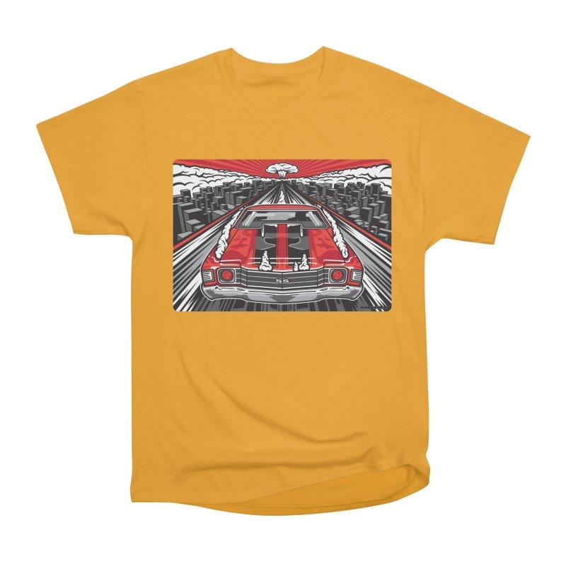 RED THREAT Men's Heavyweight T-Shirt by Max Grundy Design's Artist Shop
