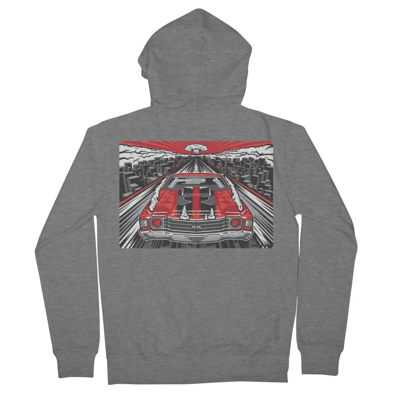 RED THREAT Women's French Terry Zip-Up Hoody by Max Grundy Design's Artist Shop