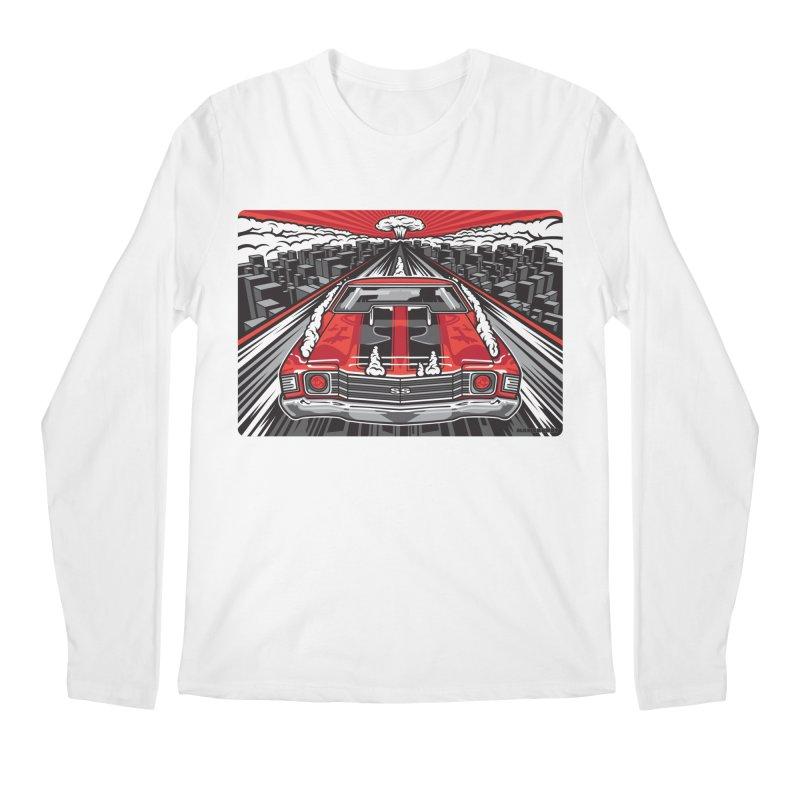 RED THREAT Men's Regular Longsleeve T-Shirt by Max Grundy Design's Artist Shop
