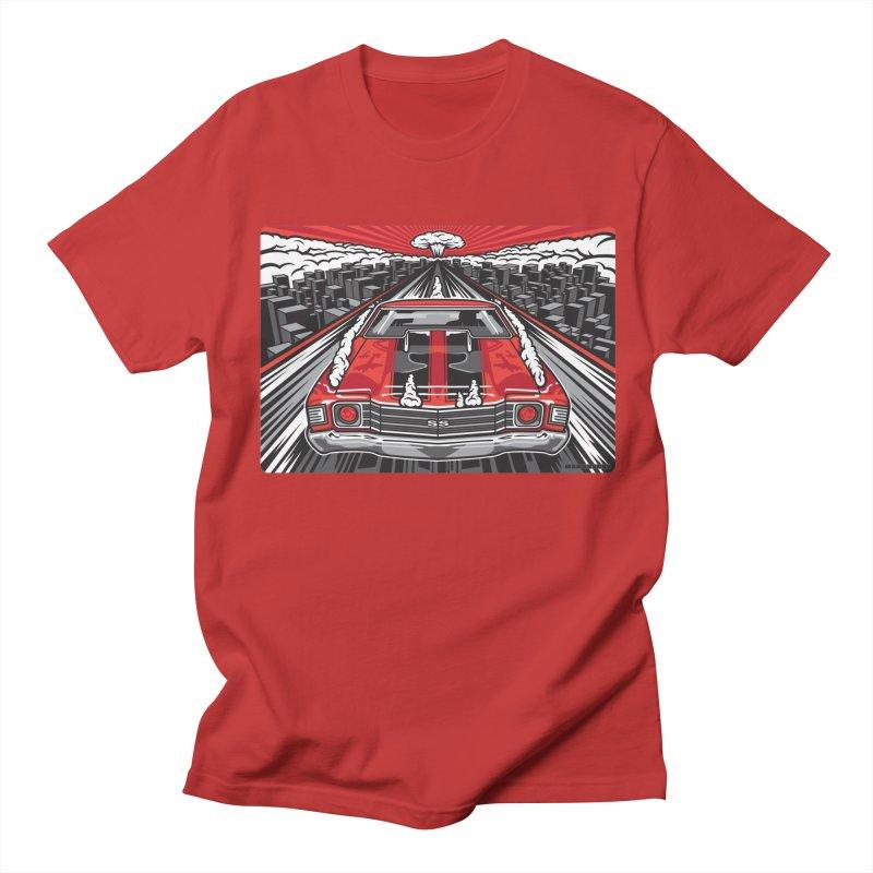 RED THREAT Women's Regular Unisex T-Shirt by Max Grundy Design's Artist Shop