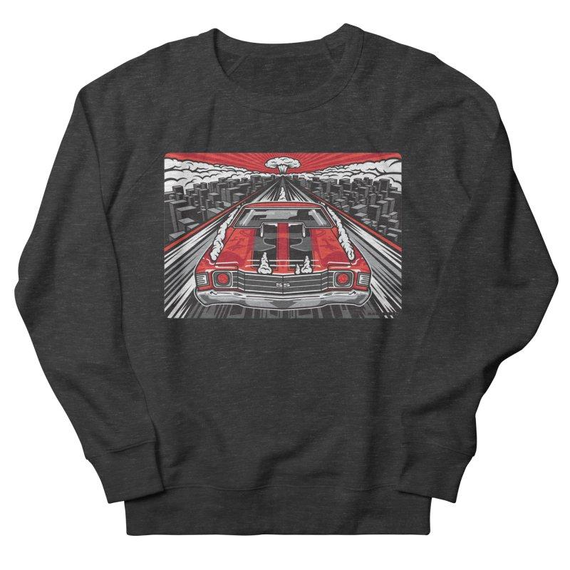 RED THREAT Women's French Terry Sweatshirt by Max Grundy Design's Artist Shop