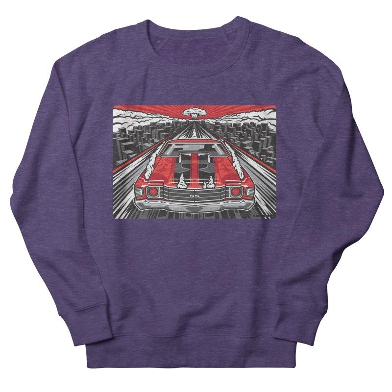 RED THREAT Men's French Terry Sweatshirt by Max Grundy Design's Artist Shop