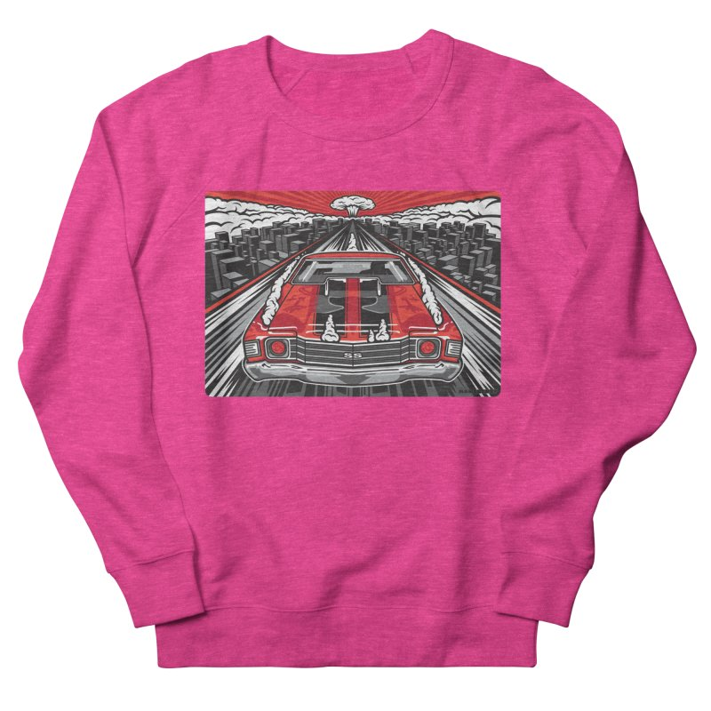 RED THREAT Men's French Terry Sweatshirt by Max Grundy Design's Artist Shop