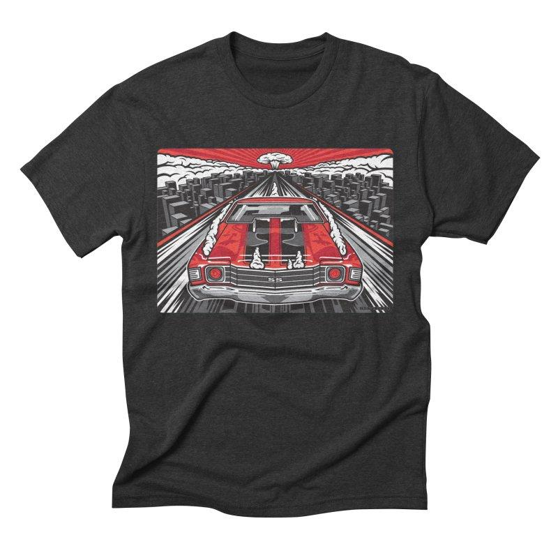 RED THREAT Men's Triblend T-Shirt by Max Grundy Design's Artist Shop