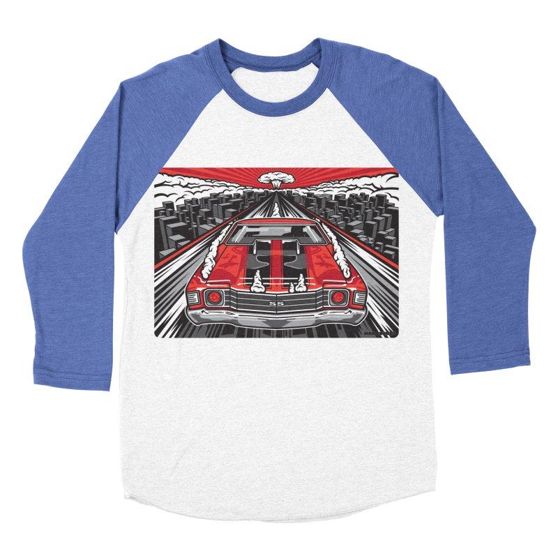 RED THREAT Women's Baseball Triblend Longsleeve T-Shirt by Max Grundy Design's Artist Shop