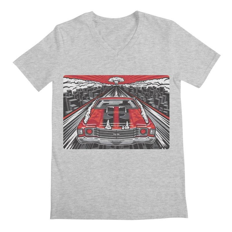 RED THREAT Men's Regular V-Neck by Max Grundy Design's Artist Shop