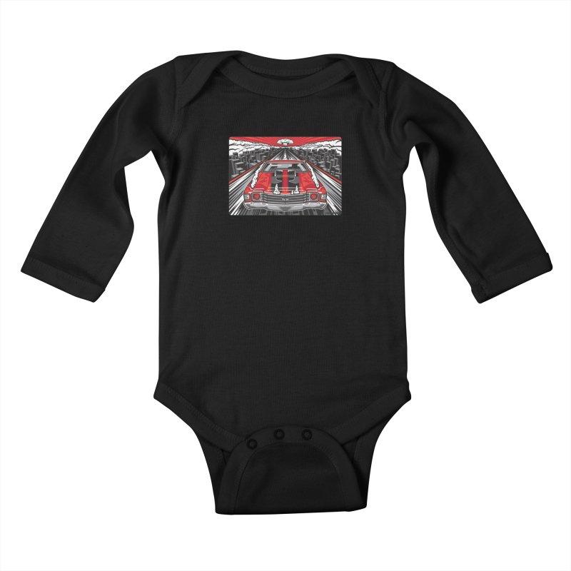 RED THREAT Kids Baby Longsleeve Bodysuit by Max Grundy Design's Artist Shop