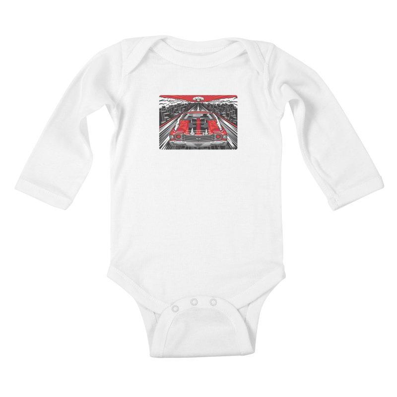 RED THREAT Kids Baby Longsleeve Bodysuit by Max Grundy Design's Artist Shop