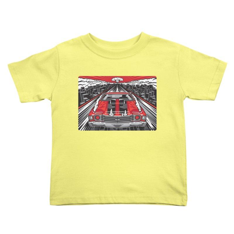 RED THREAT Kids Toddler T-Shirt by Max Grundy Design's Artist Shop