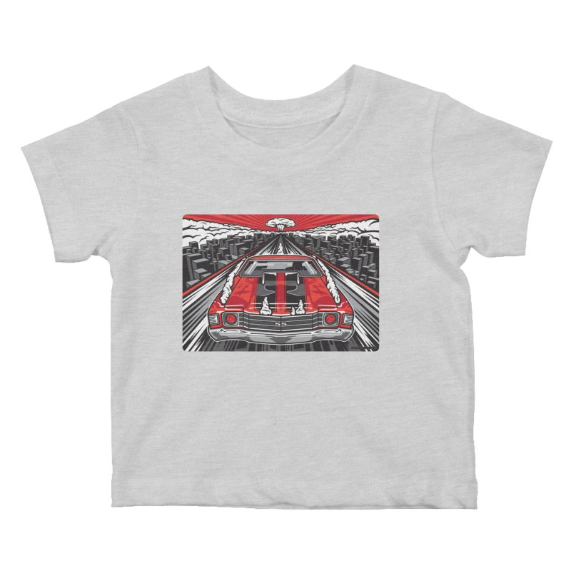 RED THREAT Kids Baby T-Shirt by Max Grundy Design's Artist Shop