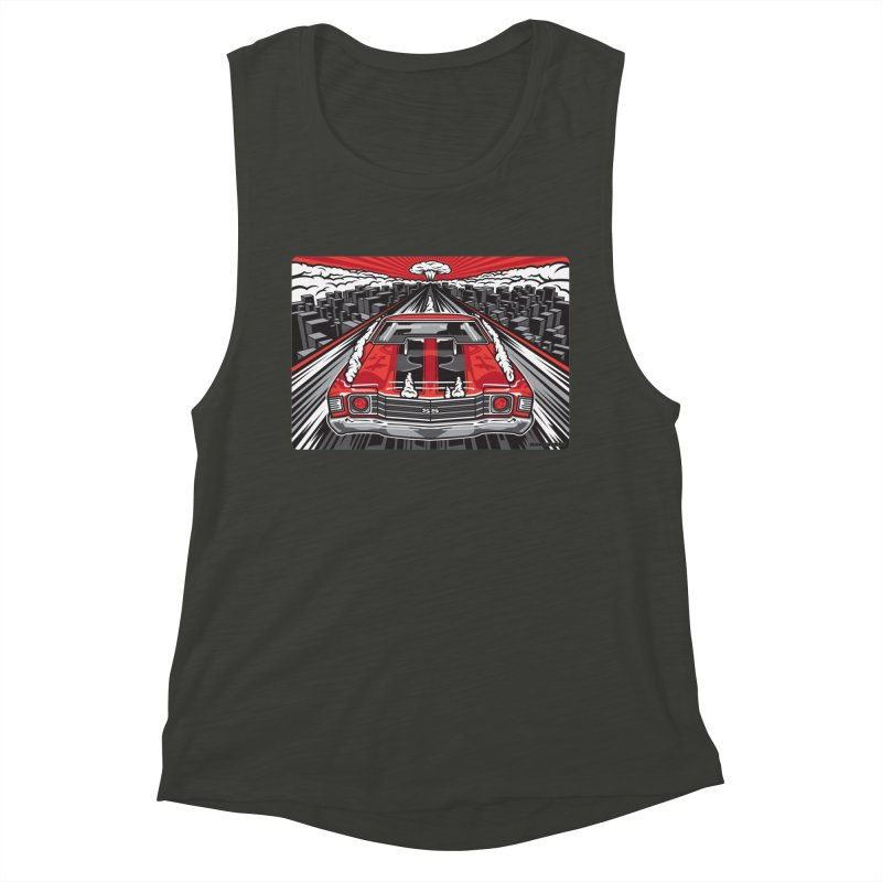 RED THREAT Women's Muscle Tank by Max Grundy Design's Artist Shop