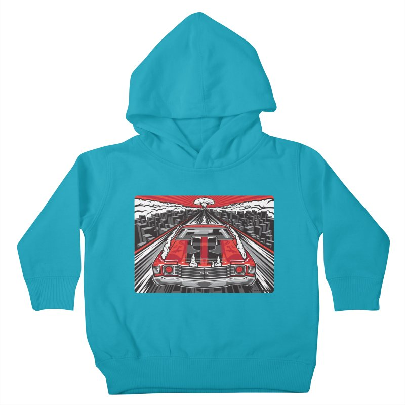 RED THREAT Kids Toddler Pullover Hoody by Max Grundy Design's Artist Shop