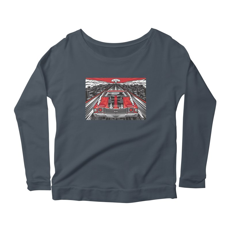 RED THREAT Women's Scoop Neck Longsleeve T-Shirt by Max Grundy Design's Artist Shop