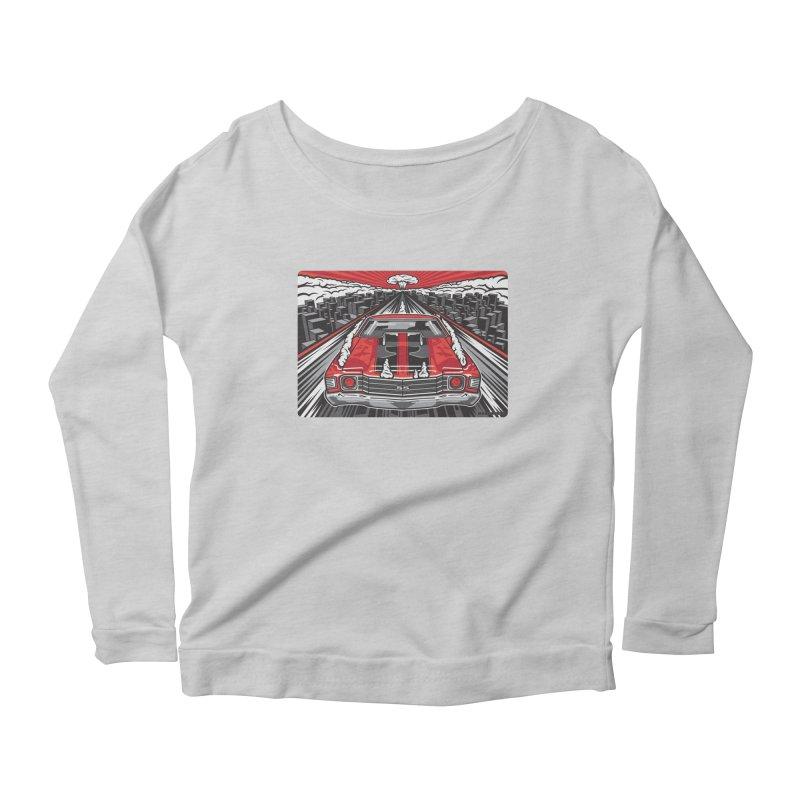 RED THREAT Women's Scoop Neck Longsleeve T-Shirt by Max Grundy Design's Artist Shop