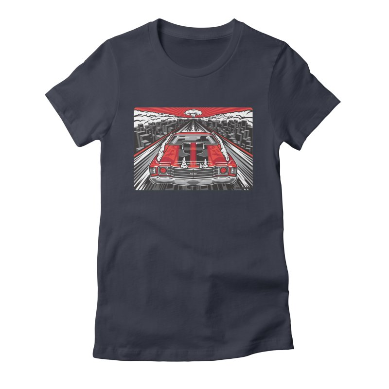 RED THREAT Women's Fitted T-Shirt by Max Grundy Design's Artist Shop