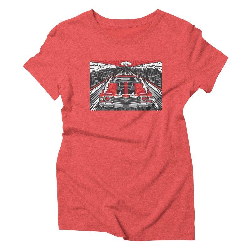 RED THREAT Women's Triblend T-Shirt by Max Grundy Design's Artist Shop