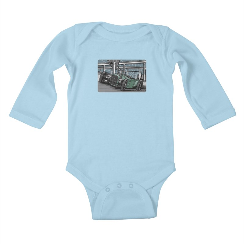 UNDERPASS Kids Baby Longsleeve Bodysuit by Max Grundy Design's Artist Shop