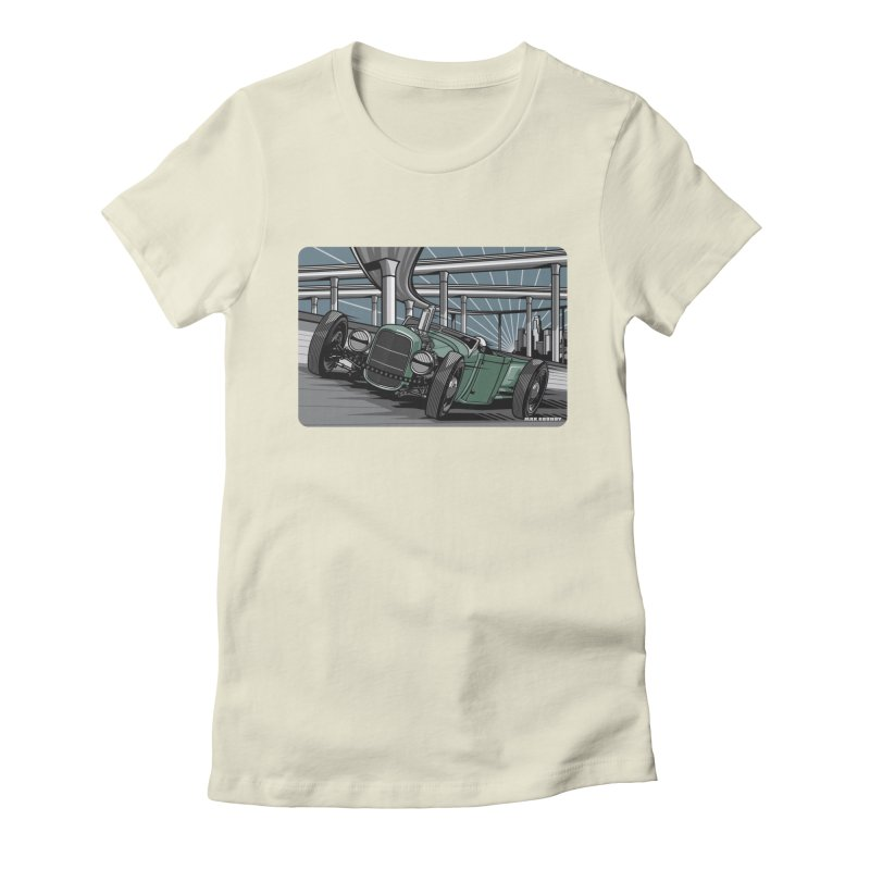UNDERPASS Women's Fitted T-Shirt by Max Grundy Design's Artist Shop