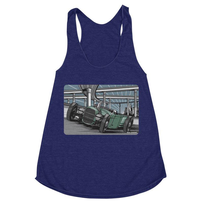 UNDERPASS Women's Racerback Triblend Tank by Max Grundy Design's Artist Shop