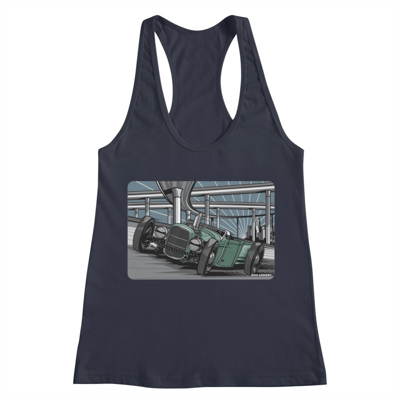 UNDERPASS Women's Racerback Tank by Max Grundy Design's Artist Shop