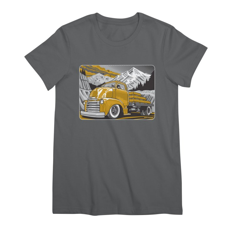 MOUNTAIN HARVEST Women's Premium T-Shirt by Max Grundy Design's Artist Shop