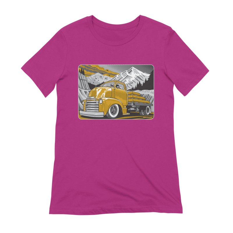 MOUNTAIN HARVEST Women's Extra Soft T-Shirt by Max Grundy Design's Artist Shop